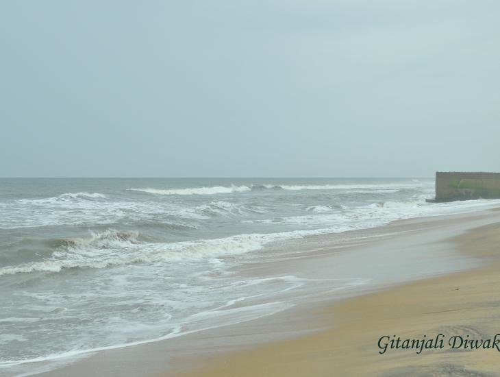 A sea shore in Kerala