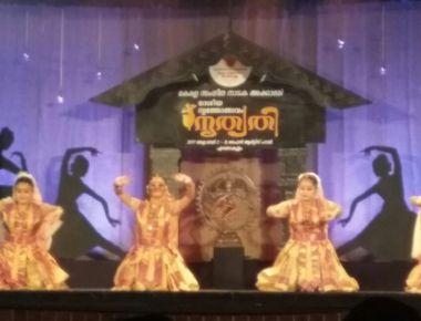 Saathriya dancers performing in Kochi, Kerala