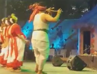 Santhali Dance performed at Thiruvananthpuram, Kerala