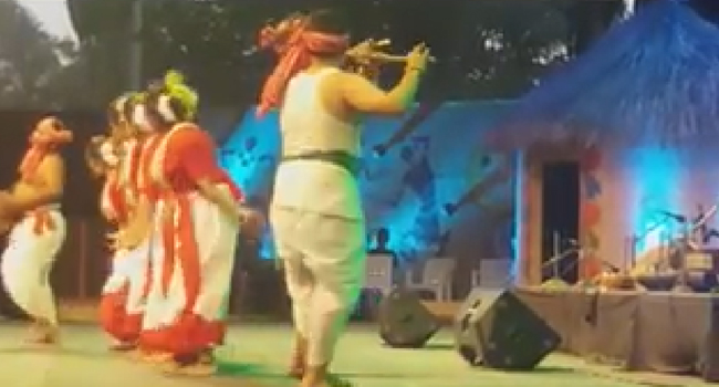 Santhali Dance performed at Thiruvananthpuram, Kerala