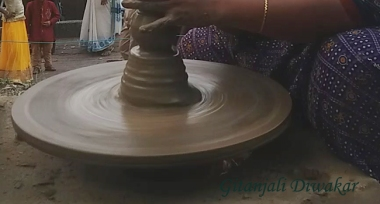 Pottery demonstration at Thiruvananthapuram, Kerala