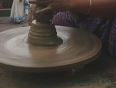 Pottery demonstration at Thiruvananthapuram, Kerala