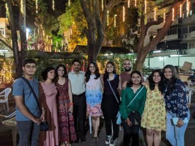 Friends at the Max Mueller Bhavan in Pune