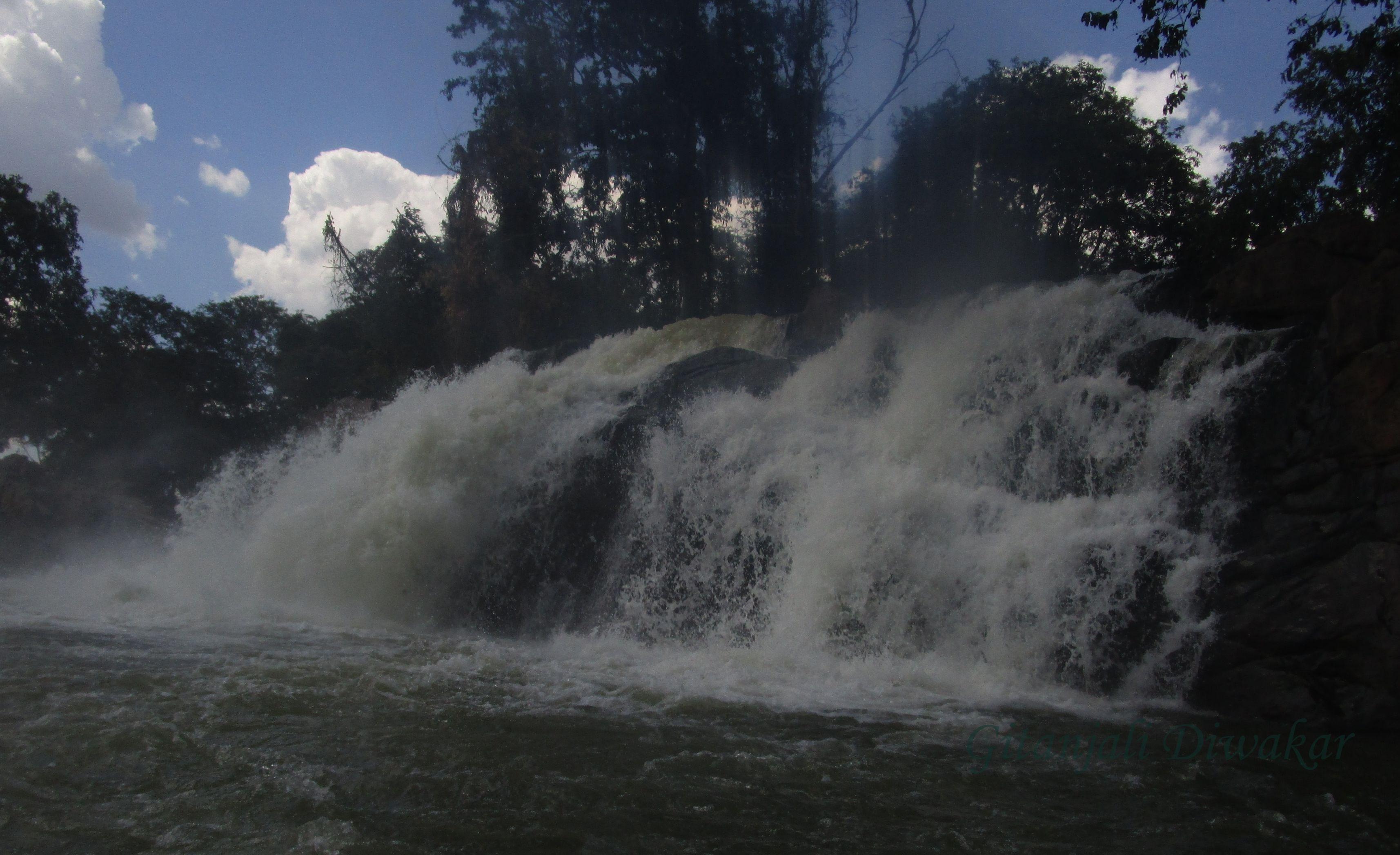The Hogenakkal Waterfalls is situated in Tamil Nadu's Dharmapuri district