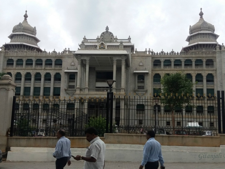The Vidhana Soudha in Bengaluru, Karnataka