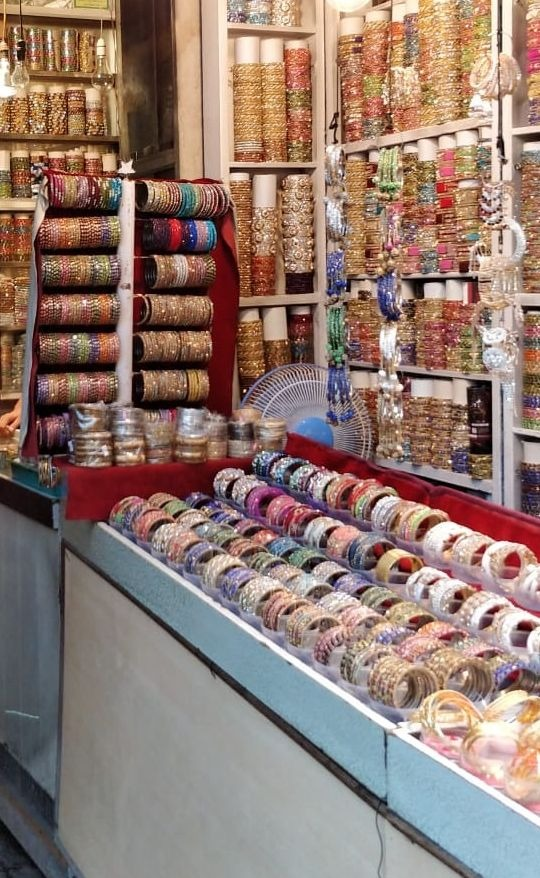 The bangle stores at Laad Bazaar