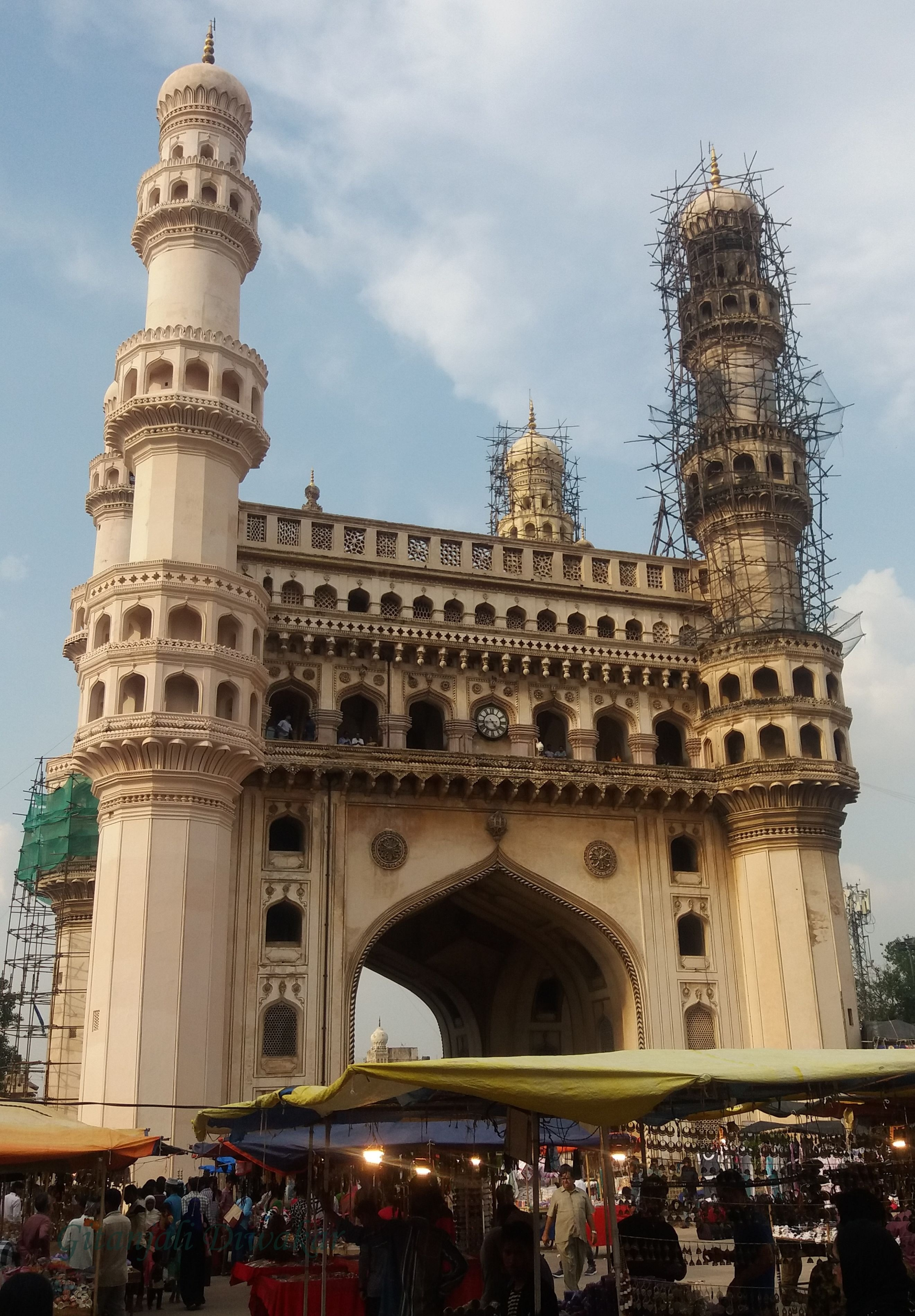 The city of Hyderabad was built around the Charminar.