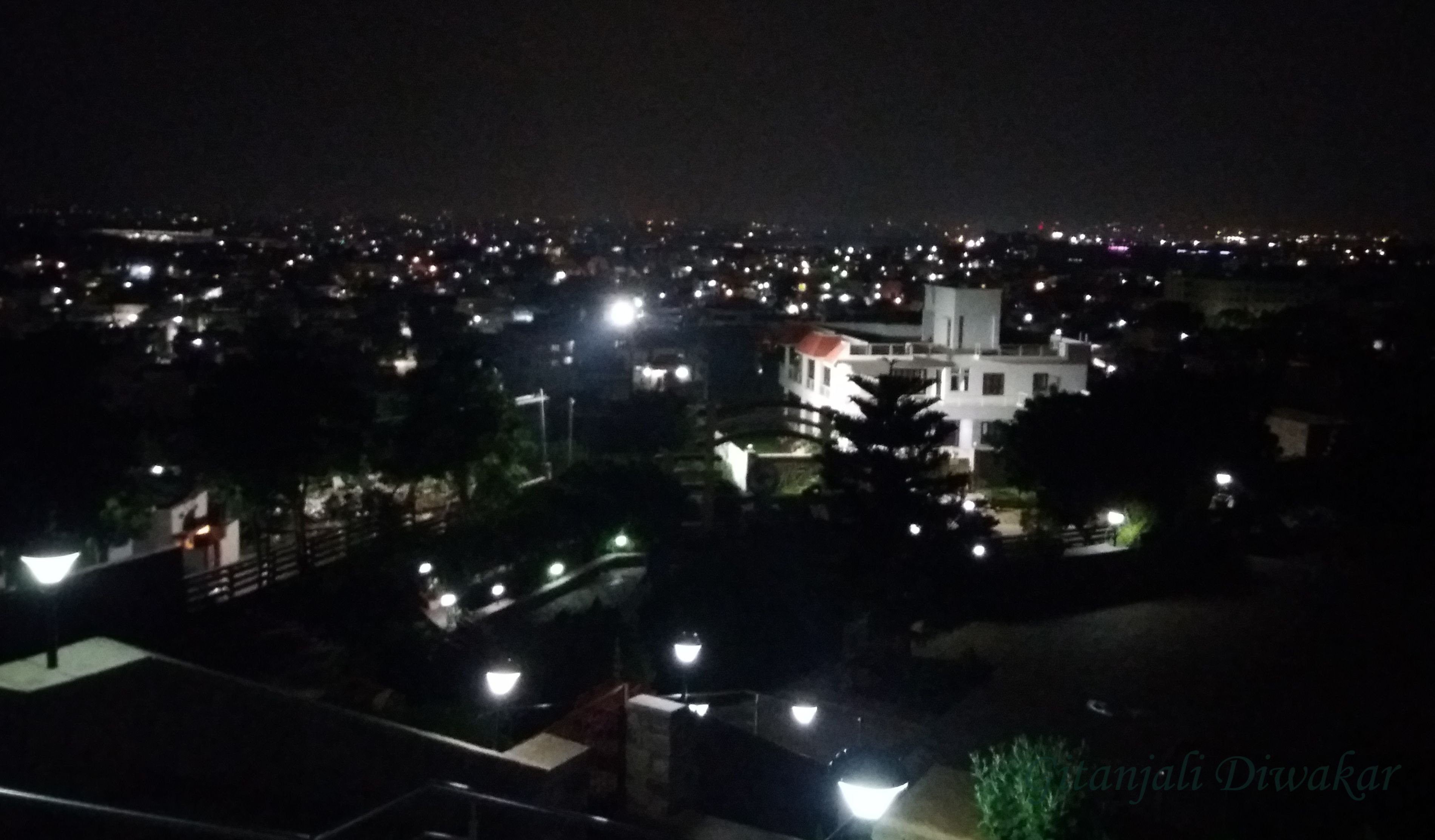 A view of Secunderabad at night