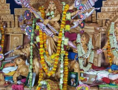 The Durga Puja pandal