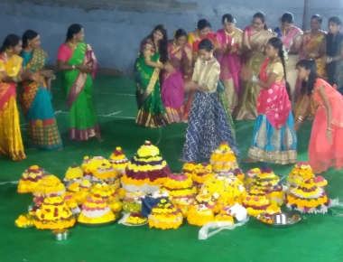 Bathukamma displays at Hyderabad, Telangana